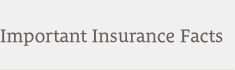 Important Insurance Facts
