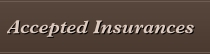 Accepted Insurances